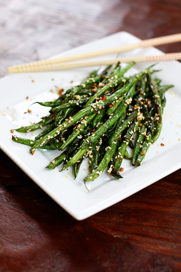 Sesame Garlic Green Beans | Sweet Anna's