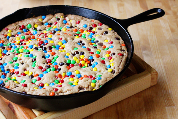 browned butter mm skillet cookie 2