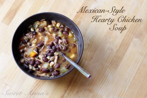 mexican style hearty chicken soup