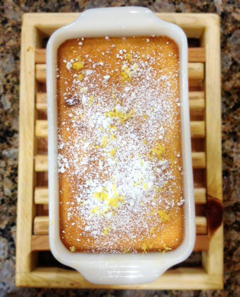 lemon souffle pudding cake | Sweet Anna's
