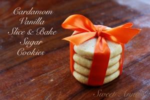 cardamom vanilla slice & bake sugar cookies