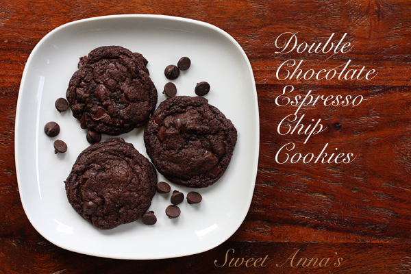 double chocolate espresso chip cookies | Sweet Anna's