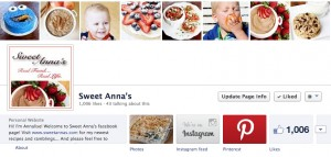 Sweet Anna's facebook friends Thank You giveaway
