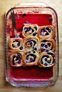 fresh blueberry lemon rolls