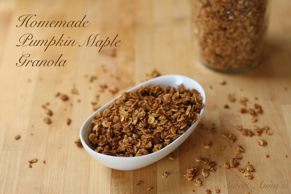 Homemade Pumpkin Maple Granola | Sweet Anna's