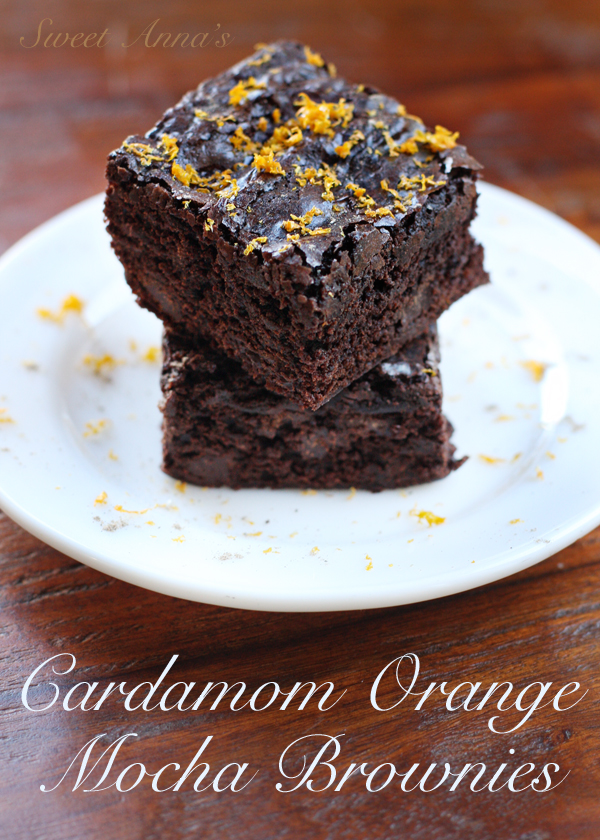 Cardamom Orange Mocha Brownies | Sweet Anna's