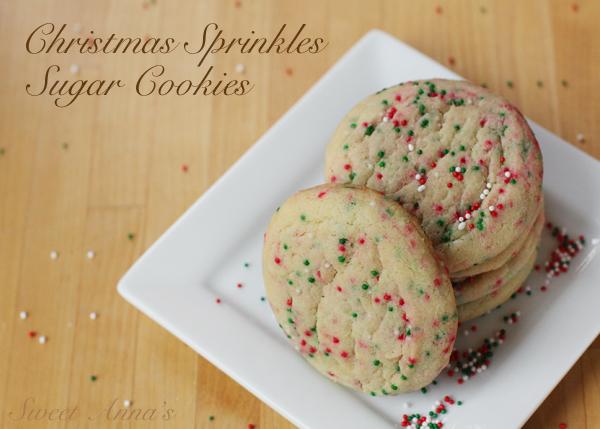 Christmas Sprinkles Sugar Cookies