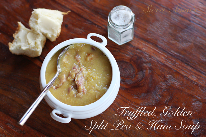 truffled, golden split pea soup | Sweet Anna's