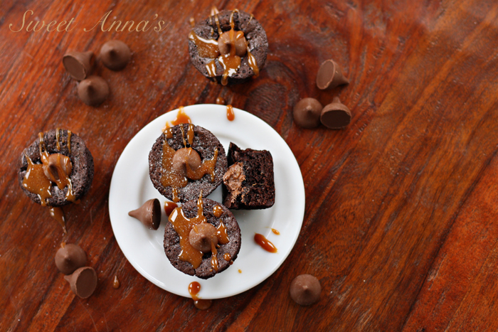 Salted Caramel Mocha Brownie Bites | Sweet Anna's