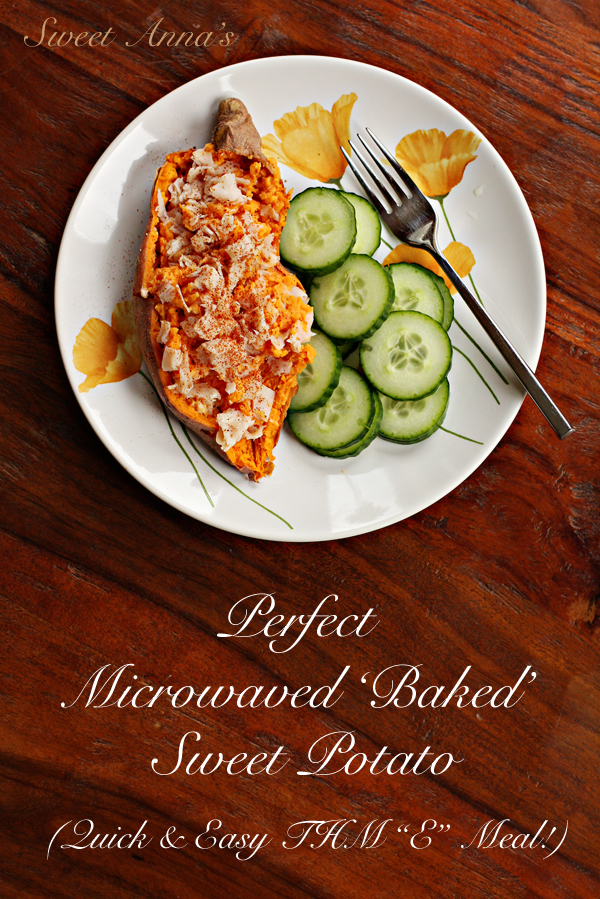 Perfect Microwaved 'Baked' Sweet Potato | Sweet Anna's