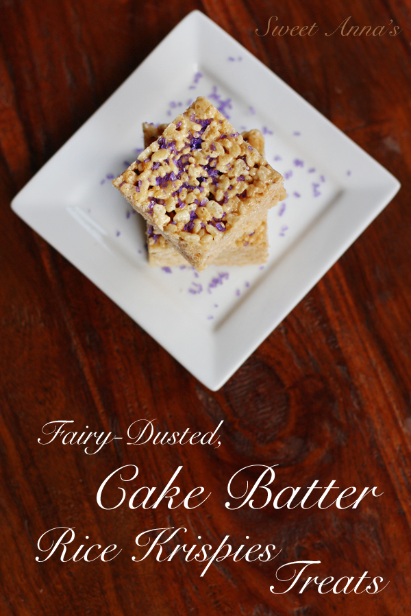 Fairy-Dusted Cake Batter Rice Krispies Treats | Sweet Anna's