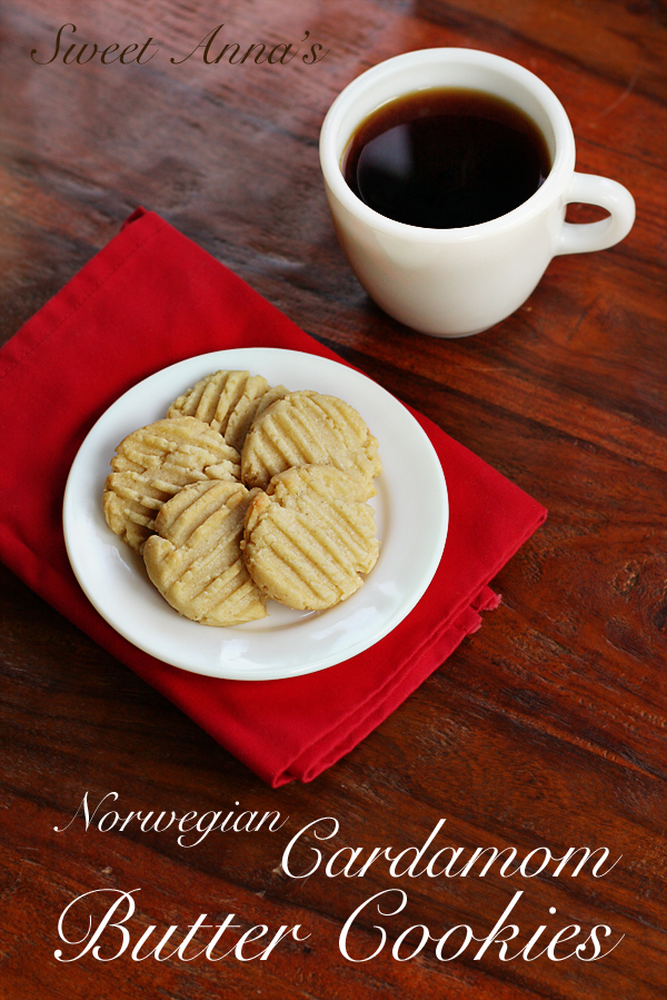 Norwegian Cardamom Butter Cookies | Sweet Anna's