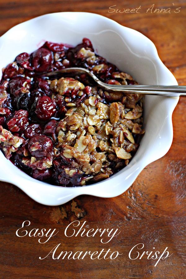 Easy Cherry Amaretto Crisp | Sweet Anna's