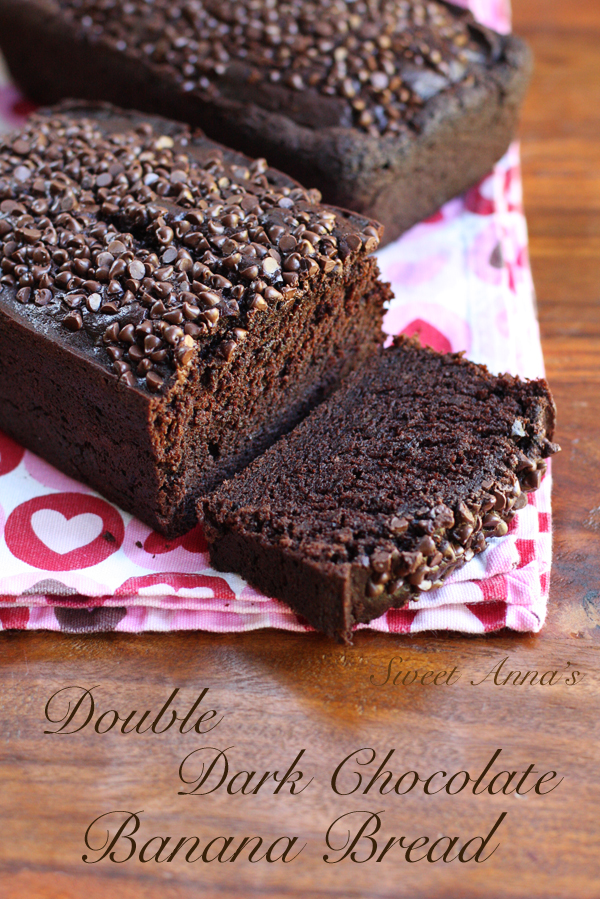 Double Dark Chocolate Banana Bread | Sweet Anna's