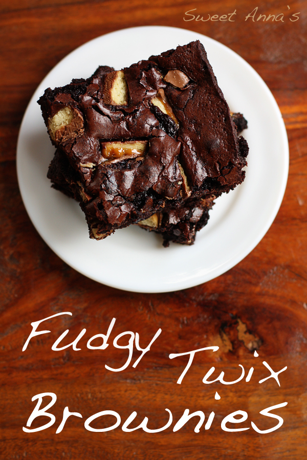 Fudgy Twix Brownies | Sweet Anna's