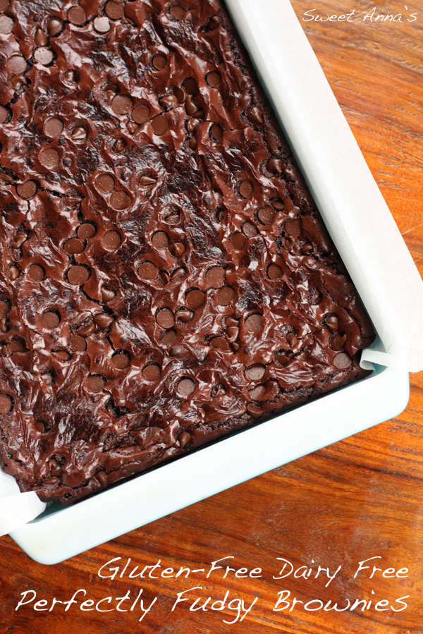 Gluten Free Dairy Free Perfectly Fudgy Brownies | Sweet Anna's