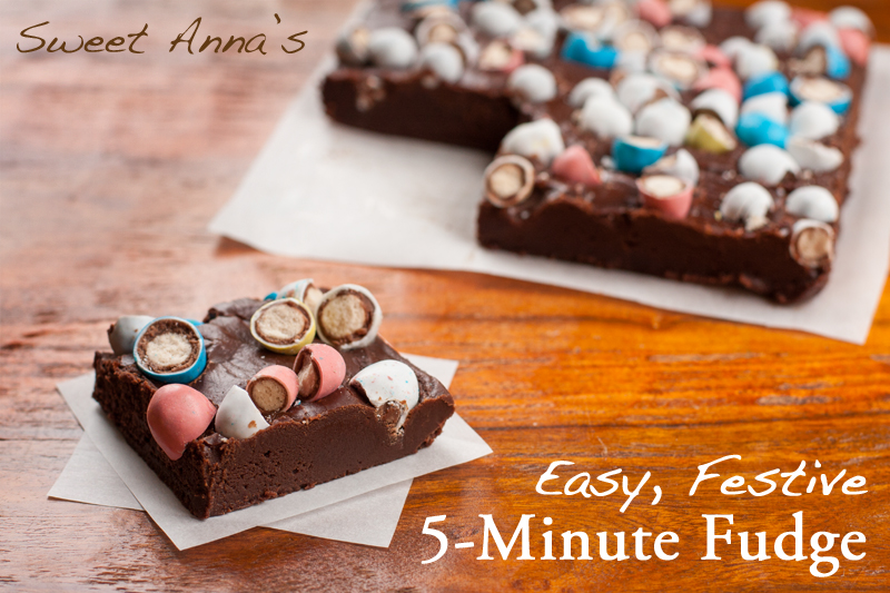 easy, festive 5-minute fudge | Sweet Anna's