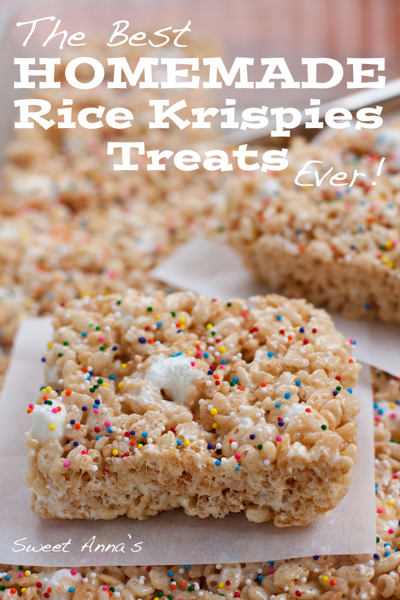 The Best Homemade Rice Krispies Treats EVER! | Sweet Anna's
