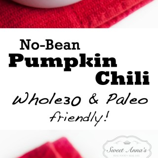 No-Bean Pumpkin Chili (Whole30 & Paleo friendly!) | Sweet Anna's