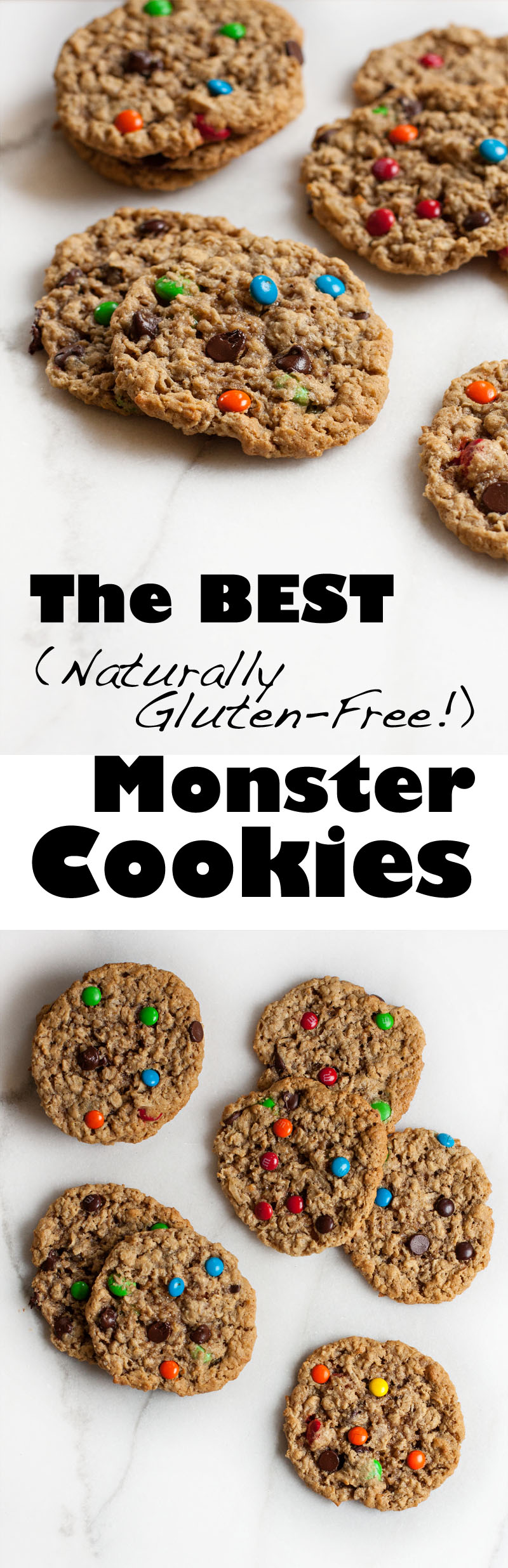 The BEST (naturally gluten free!) Monster Cookies!  | Sweet Anna's