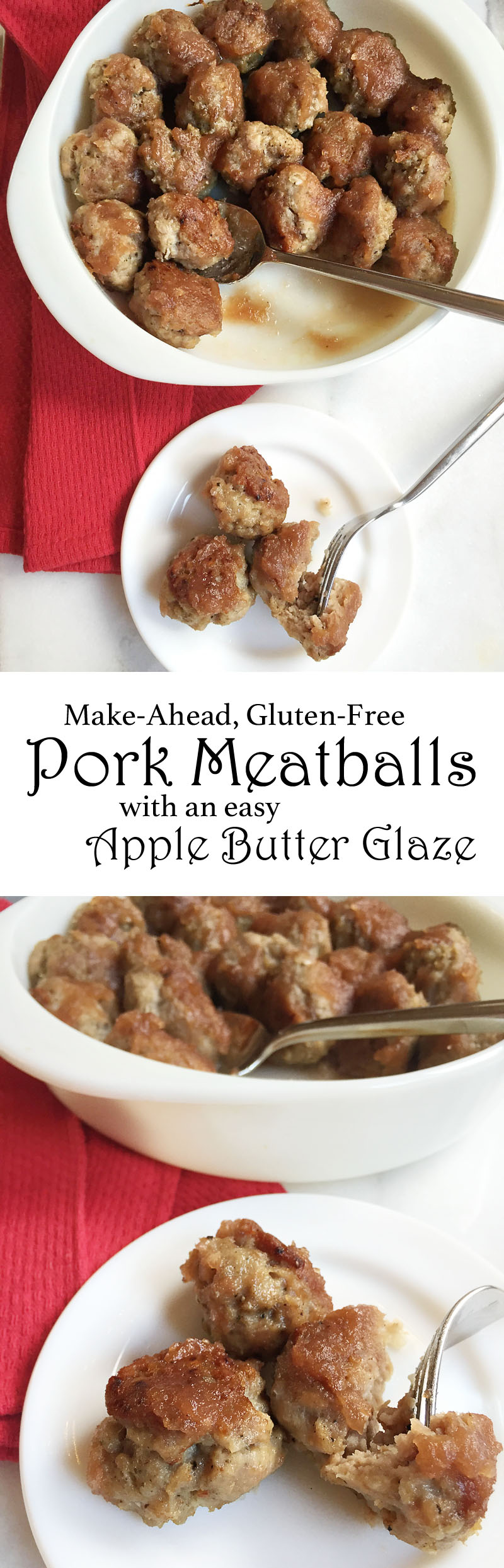 Make-Ahead Gluten-Free Pork Meatballs with an Easy Apple Butter Glaze | Sweet Anna's